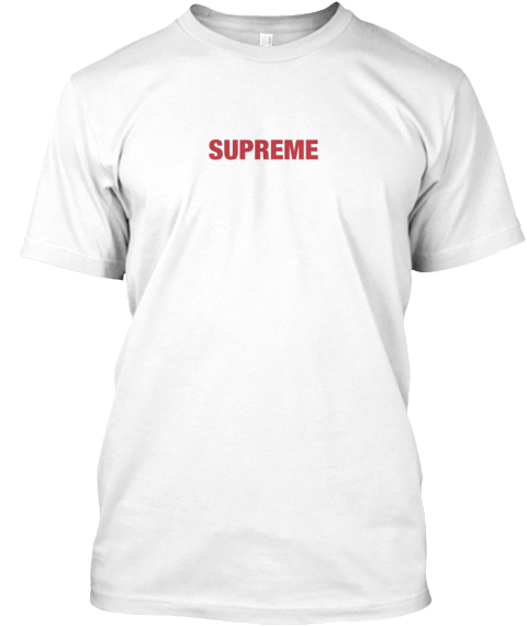 Supreme White T Shirt Front