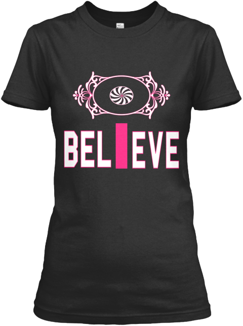Bel I Eve Black Women's T-Shirt Front