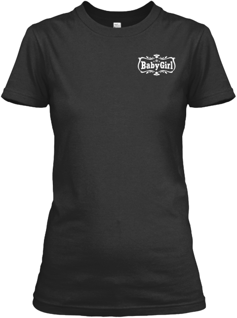 Baby Girl Black T-Shirt Front