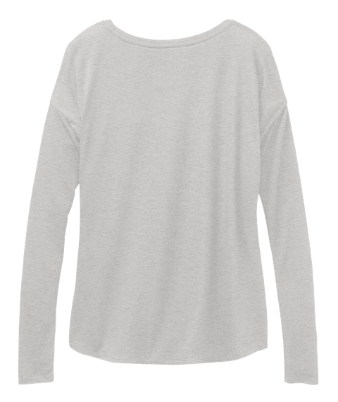 Zenned Out  Athletic Heather Long Sleeve T-Shirt Back