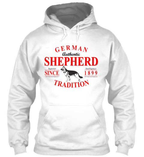 Hey! Show The World Your German Shepherd Spirit And Get Your Own Limited%2 C One Of A Kind Gsd T Shirt Now Before Time... White T-Shirt Front