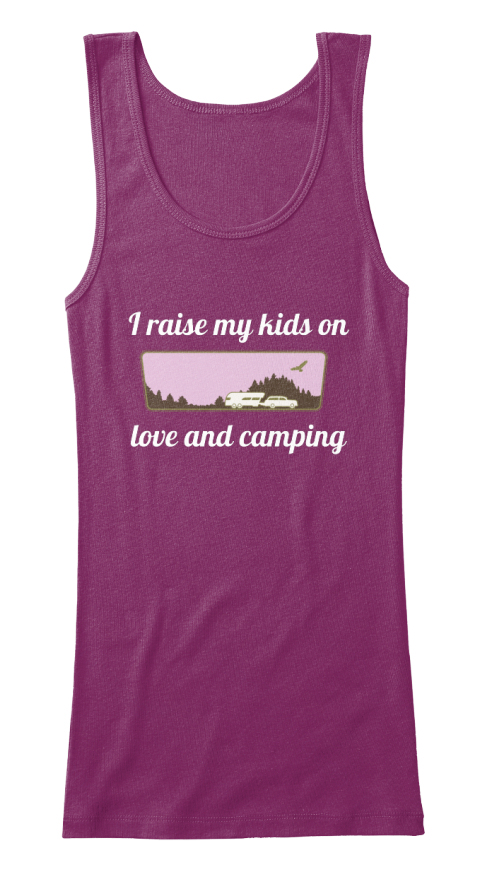 I Raise My Kids On   Love And Camping Currant Women's Tank Top Front