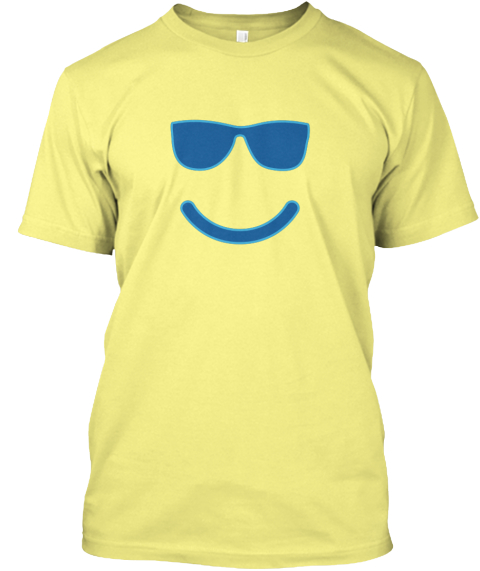 Emoji Sunglasses Smile T Shirt Lemon Yellow  T-Shirt Front