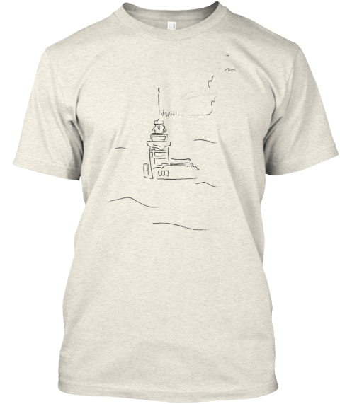 Tacsri   Istanbul : The Maiden's Tower Oatmeal T-Shirt Front