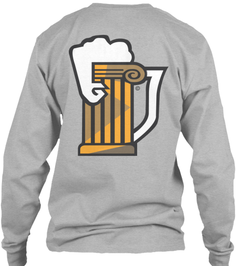 Brews Sport Grey Long Sleeve T-Shirt Back