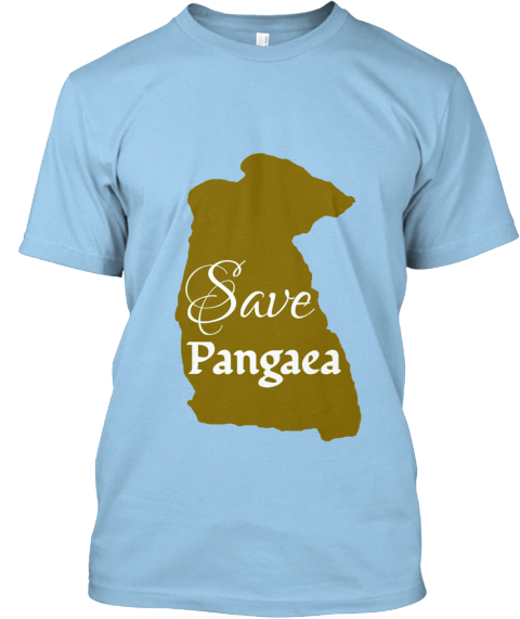 Save Pangaea! Light Blue T-Shirt Front