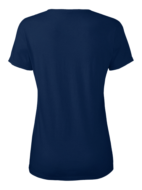 Love Me Ellesson Navy Women's T-Shirt Back