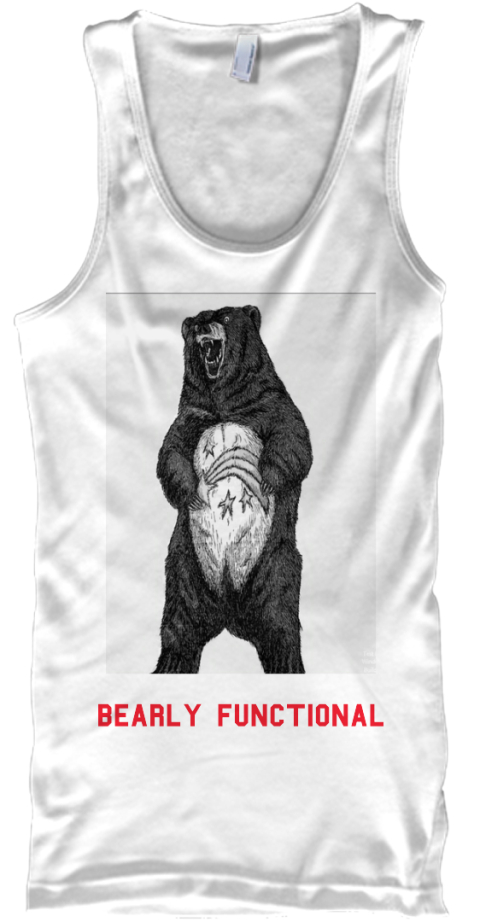 Bearly Functional White Tank Top Front
