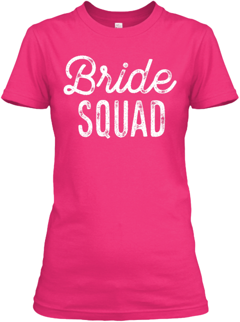 Bride Squad Heliconia Women's T-Shirt Front