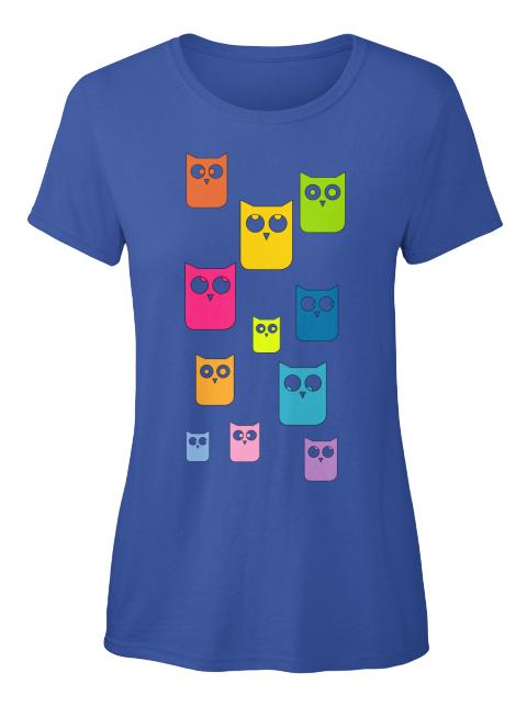 Bunte Eulen T-Shirt