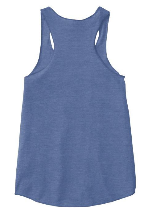 Acu/Yoga  Punct' Rocks! Eco Pacific Blue  Women's Tank Top Back