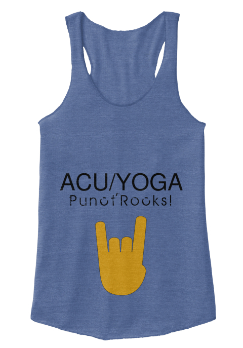 Acu/Yoga Punotrocks! Eco Pacific Blue  Vrouwen Tank Top Front