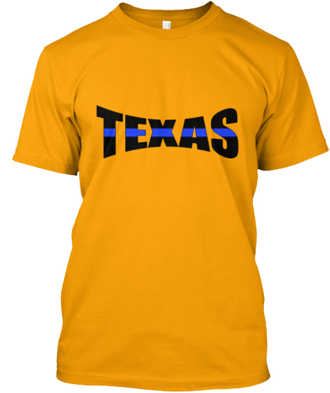 Texas thin blue line products from american t shirts 4u for Texas thin blue line shirt