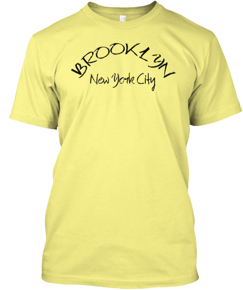 Brooklyn New York City Lemon Yellow  T-Shirt Front