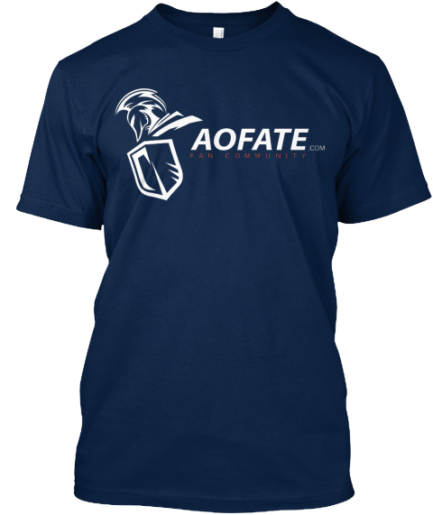 Aofate Com Fan Community Navy T-Shirt Front