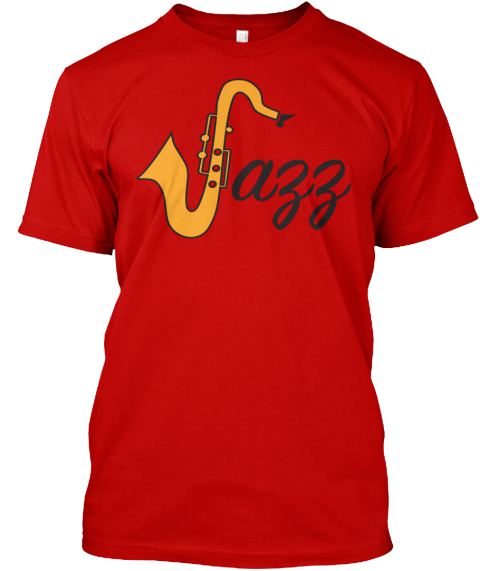 Jazz Classic Red T-Shirt Front