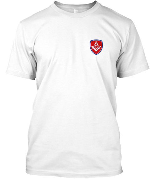 Freemason Classic Shield Emblem White T-Shirt Front