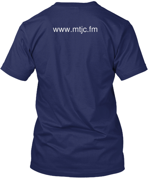 Www Mtjc Fm Navy T-Shirt Back