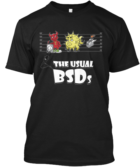 The Usual Bsds Bsdnow.Tv Black T-Shirt Front