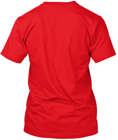 Don't Panic And Carry A Towel Red T-Shirt Back