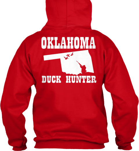 Oklahoma Duck Hunter Red T-Shirt Back