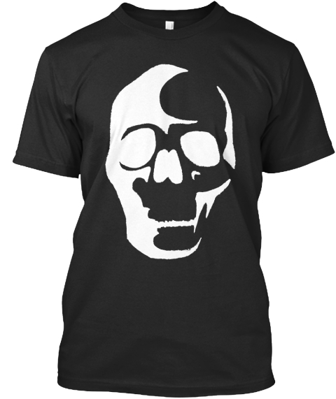 Big Skull T. Custom Art. Ltd. Edition. Black T-Shirt Front