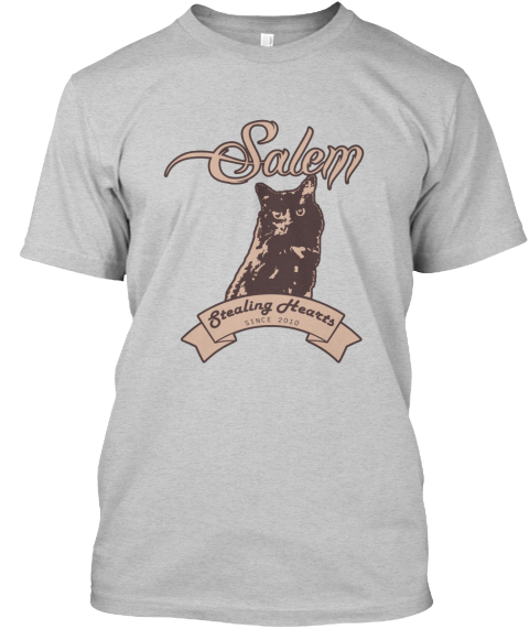 Salem Stealing Hearts Light Steel T-Shirt Front
