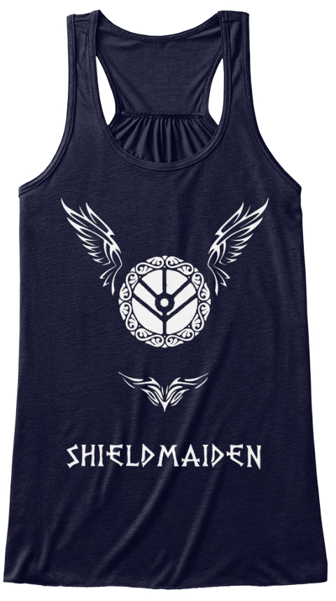 Shield Maiden Lagertha T Shirt / Hoodie Midnight Women's Tank Top Front