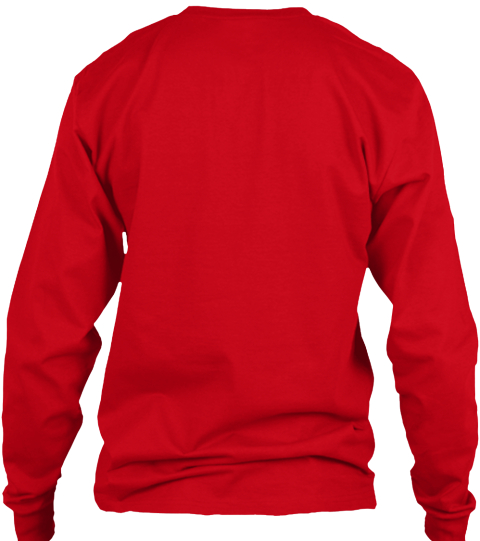 Holiday Workout! Red Long Sleeve T-Shirt Back