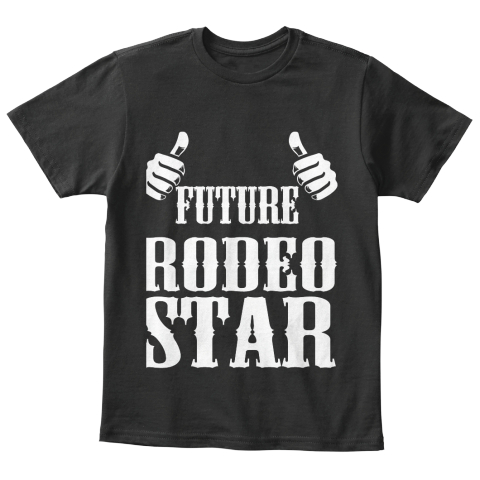 Kids Tee  Future Rodeo Star Black T-Shirt Front