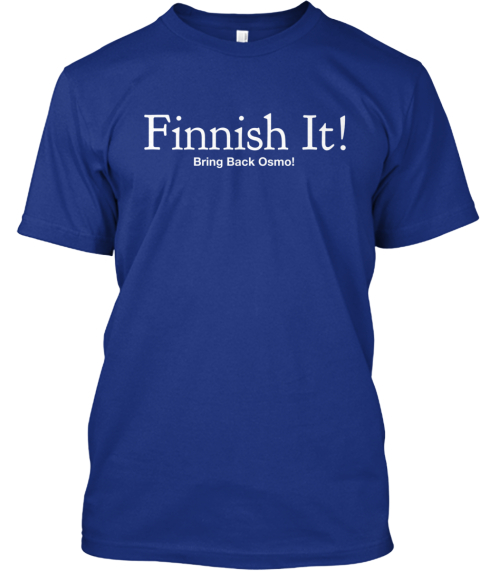 Finnish It! Bring Back Osmo! Deep Royal T-Shirt Front