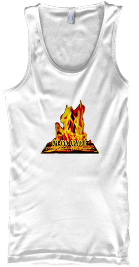 Delyric Oracle Cooked Tha Rulebooks White White Tank Top Front