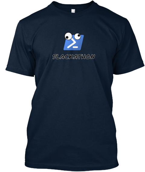 Slackathon New Navy T-Shirt Front