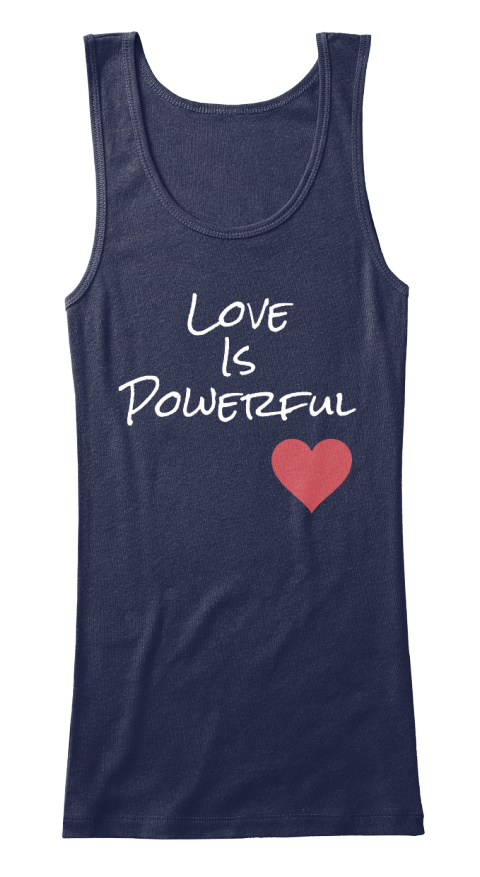 Love Is Powerful Navy Women's Tank Top Front