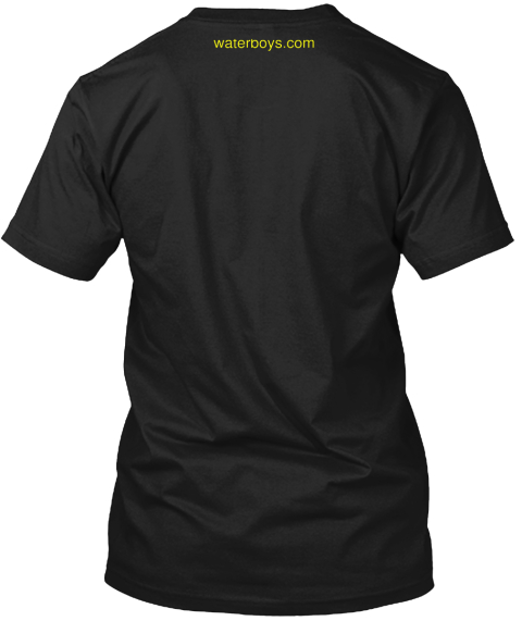 Waterboys.Com Black T-Shirt Back