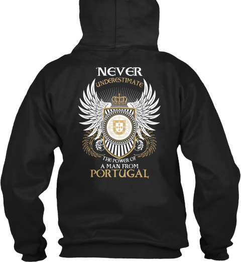 Man From Portugal Black Sweatshirt Back