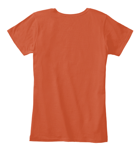 Extreme Groom Deep Orange Women's T-Shirt Back