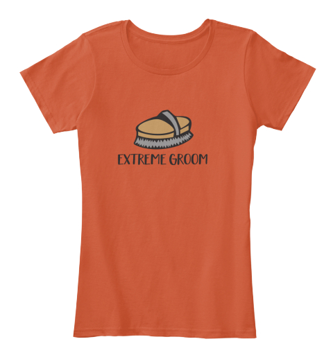 Extreme Groom Deep Orange Women's T-Shirt Front