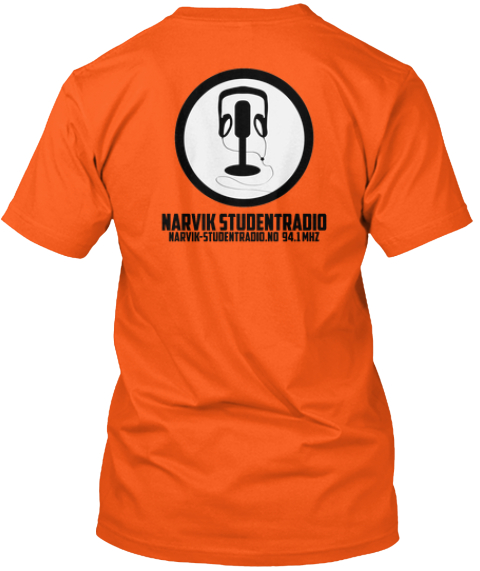 First Press Narvik Studentradio T Shirt Orange T-Shirt Back