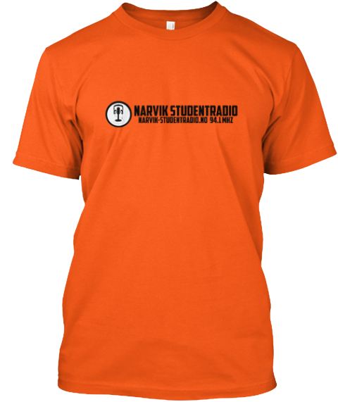 First Press Narvik Studentradio T Shirt Orange T-Shirt Front