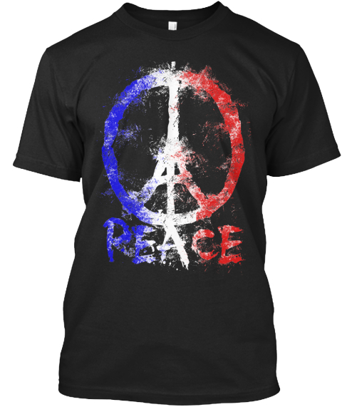 Peace Black T-Shirt Front