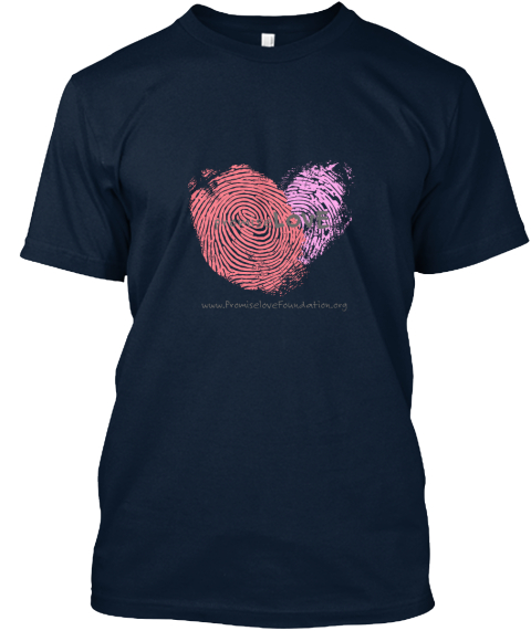 Promise Love Www.Promiselovefoundation.Org New Navy T-Shirt Front