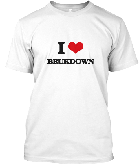 I Brukdown White T-Shirt Front