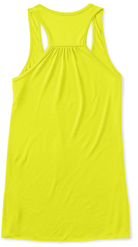 Summer Time And The Livin' Is Easy Neon Yellow Women's Tank Top Back