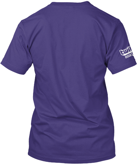 Twitch Con 2016   Road To Twitch Con Purple Rush Camiseta Back