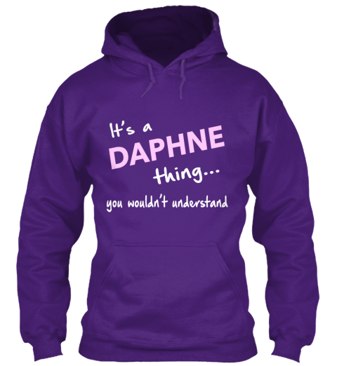 It'S A Daphne Thing! Limited Edition Purple T-Shirt Front