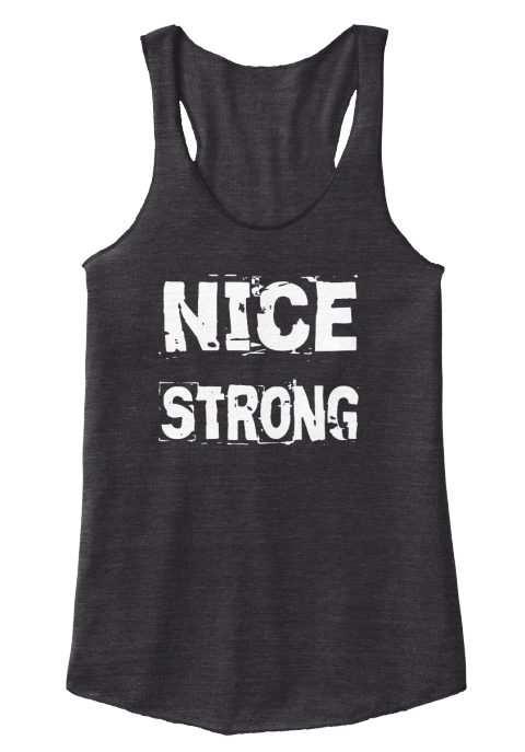 Nice Strong Eco Black T-Shirt Front