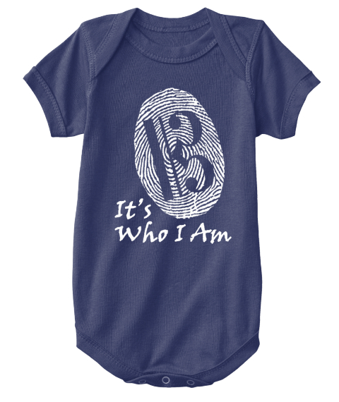 It's Who I Am Navy  T-Shirt Front