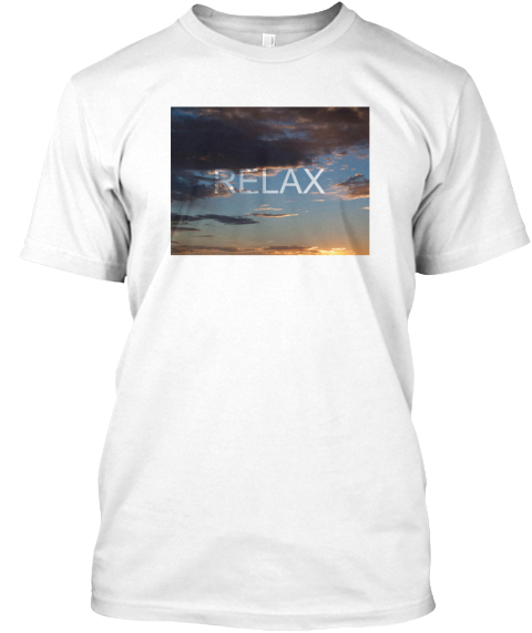 Relax White T-Shirt Front