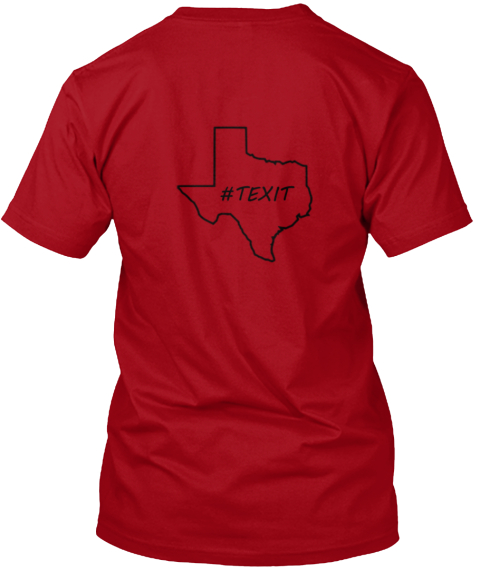 #Texit Deep Red T-Shirt Back